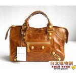 balenciag 巴黎世家 084332b-尊貴大氣時尚金色大鉚釘手提包 (女款)