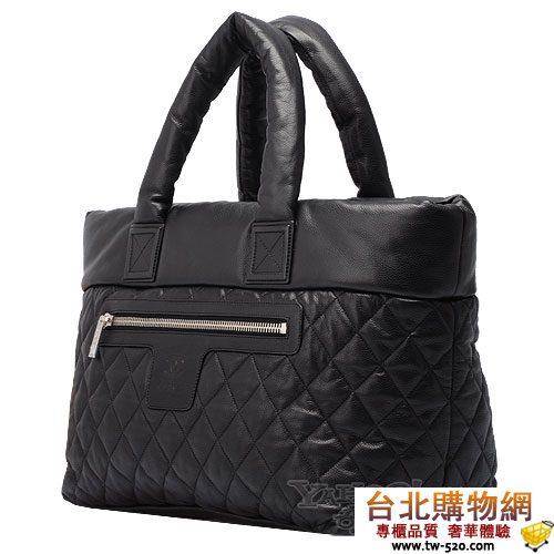 chanel coco cocoon系列菱格荔技皮大型購物包