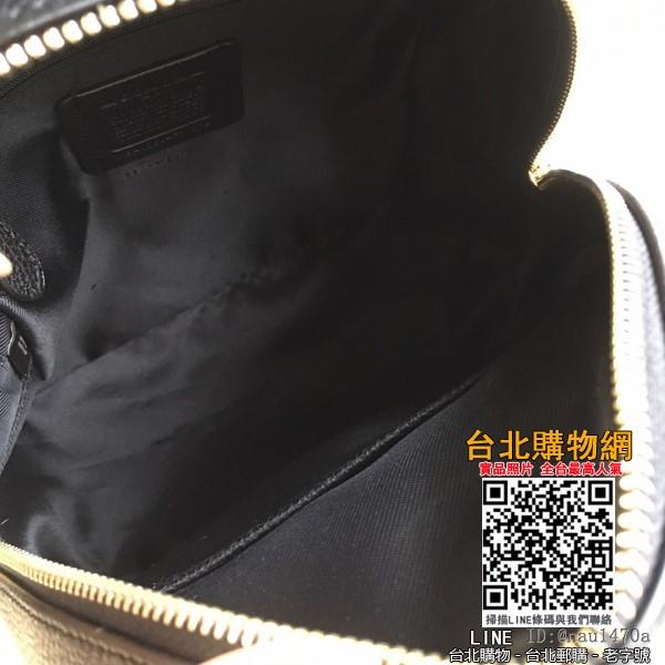中號coach 新款 經典純色全皮雙肩包 31032全皮黑色