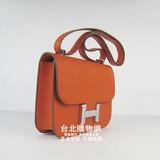 hermes constance包 女士手提單肩包h017橙色(銀) (女款)