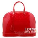 lv 【m93596】 經典vernis 壓紋手提包_大紅色