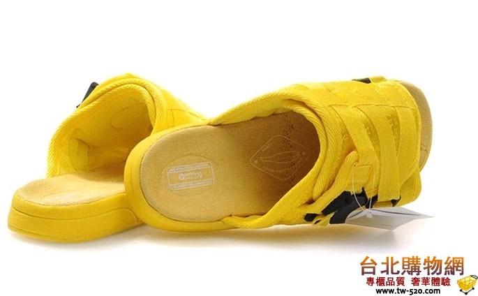 Visvim 多功能拖鞋黃黑唐裝布===男女鞋